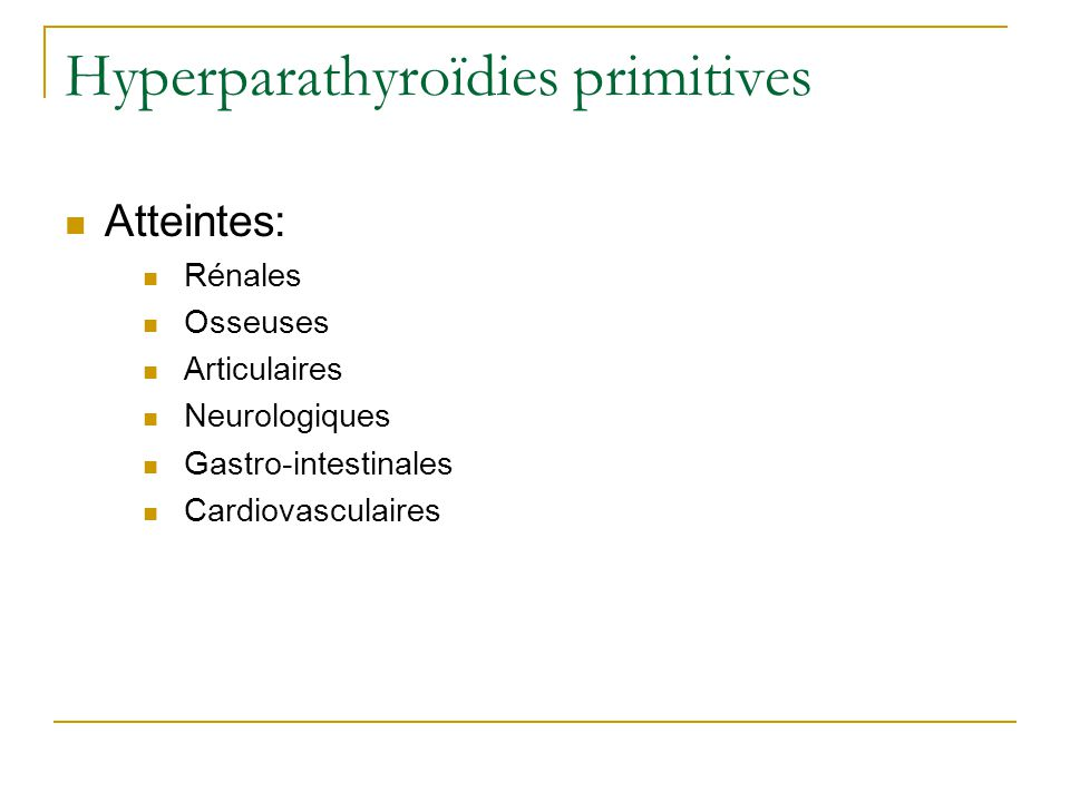 Hyperparathyroïdies primitives