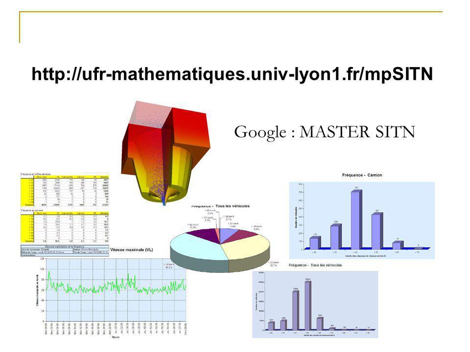 http://ufr-mathematiques.univ-lyon1.fr/mpSITN Google : MASTER SITN