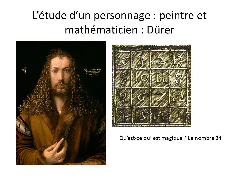 L'étude d'un personnage : peintre et mathématicien : Dürer