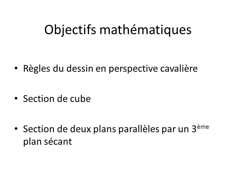 Objectifs mathématiques