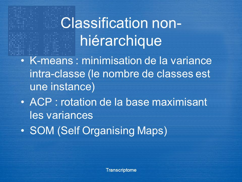 Classification non-hiérarchique
