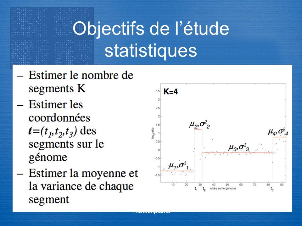 Objectifs de l'étude statistiques