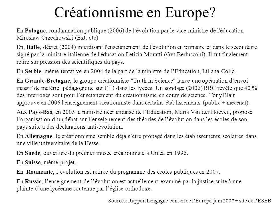 Créationnisme en Europe