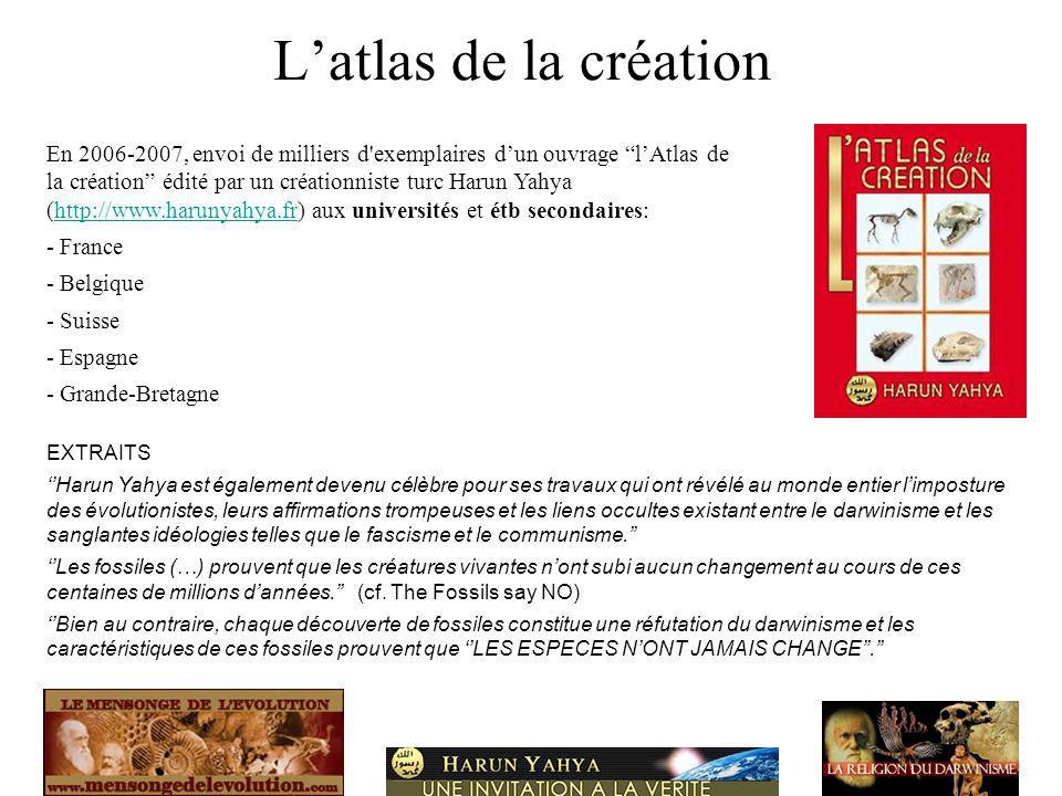 L'atlas de la création