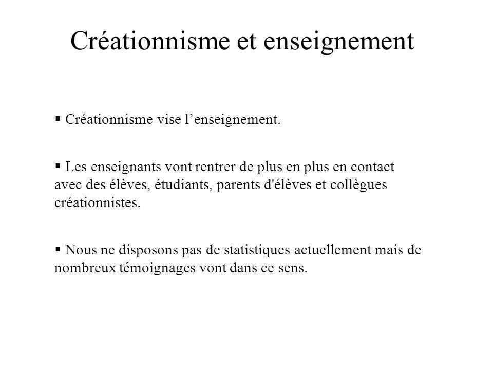 Créationnisme et enseignement