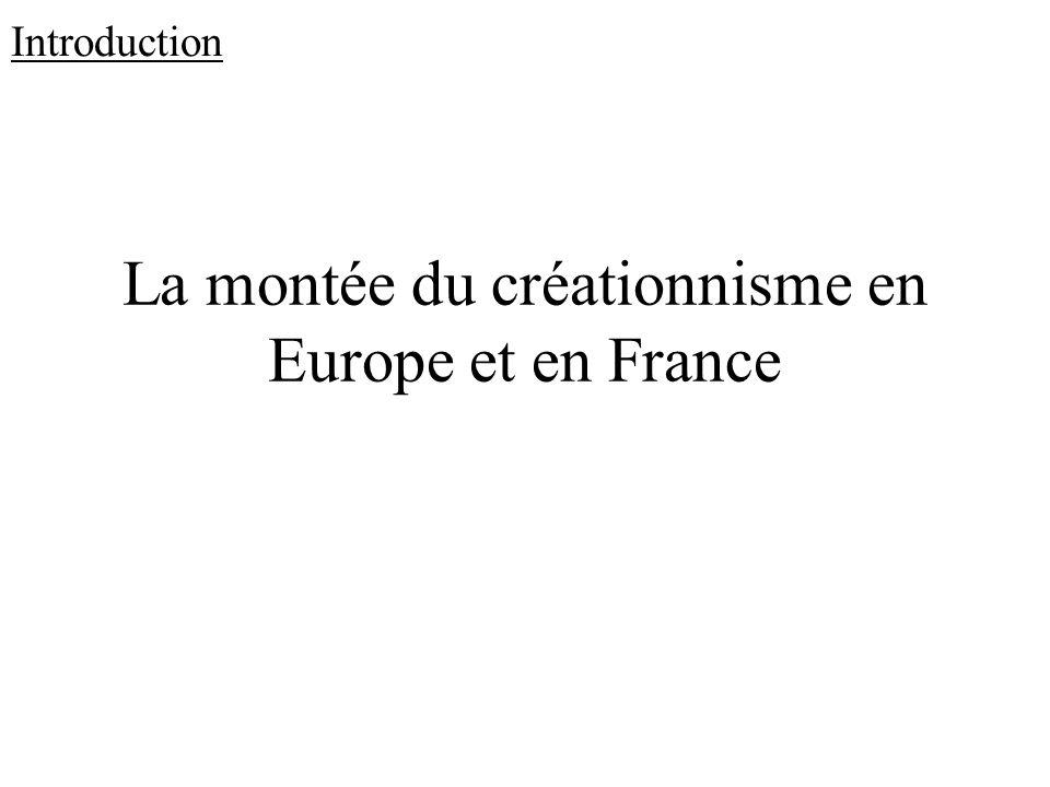 La montée du créationnisme en Europe et en France