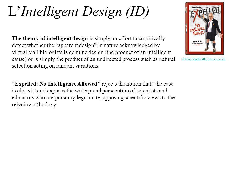 L'Intelligent Design (ID)