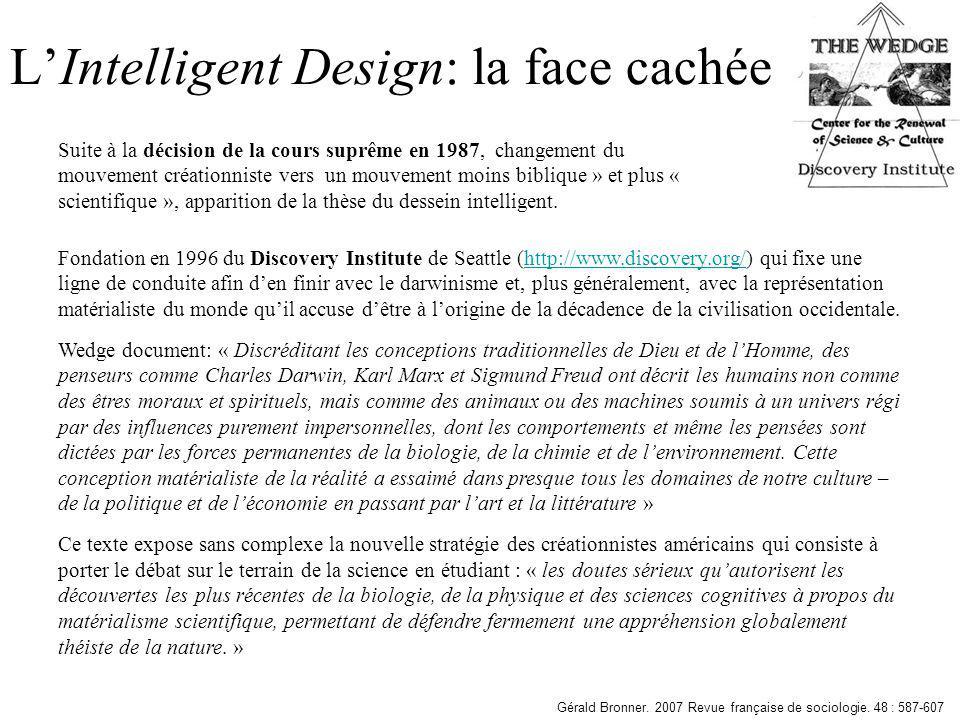 L'Intelligent Design: la face cachée