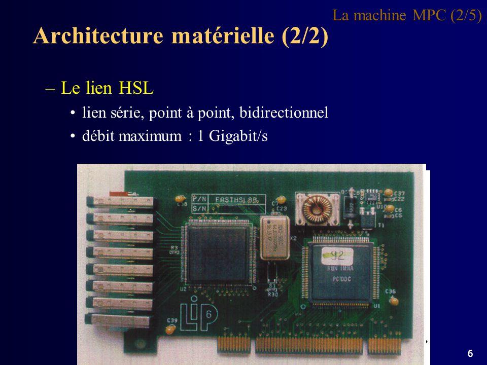 Architecture matérielle (2/2)