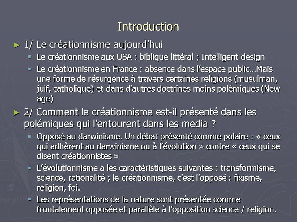Introduction 1/ Le créationnisme aujourd'hui