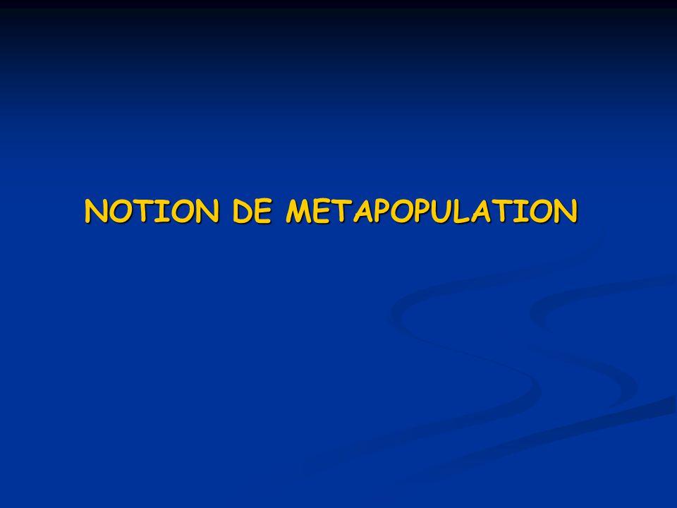NOTION DE METAPOPULATION