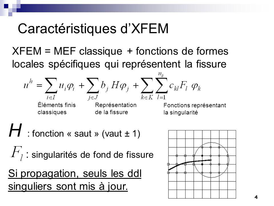 Caractéristiques d'XFEM