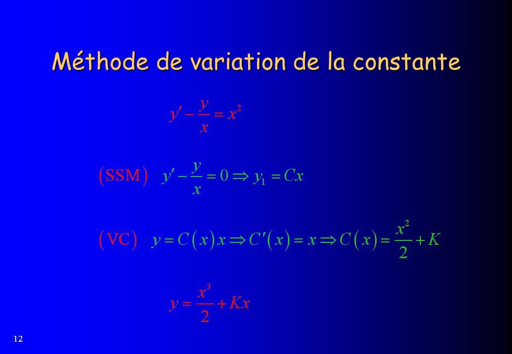 Méthode de variation de la constante