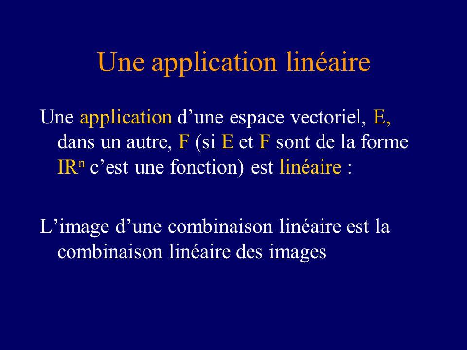 Une application linéaire