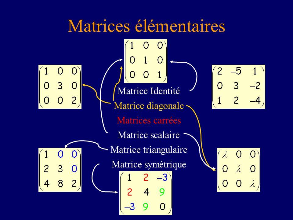 Matrices élémentaires