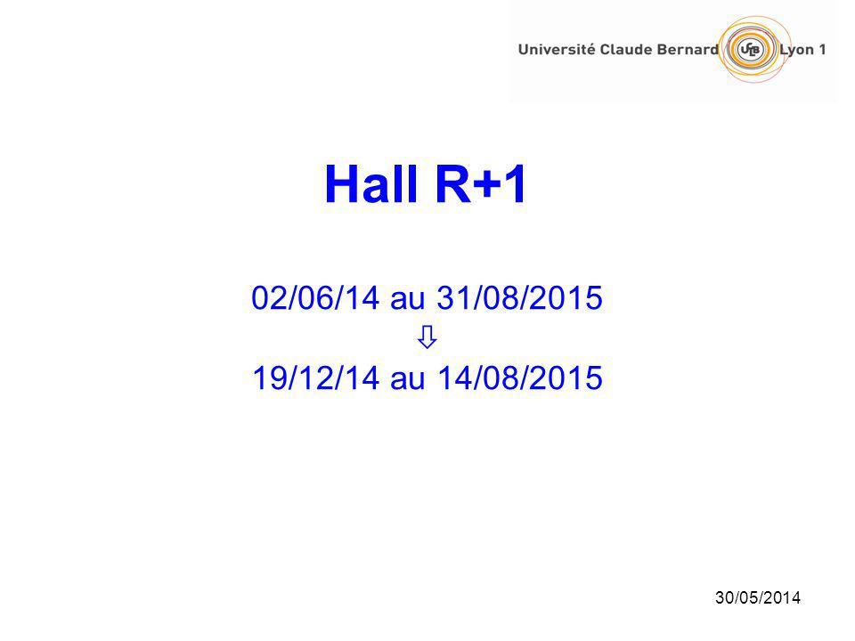Hall R+1 02/06/14 au 31/08/2015  19/12/14 au 14/08/2015 31/03/2017