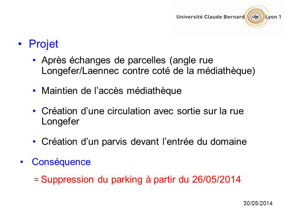 Projet Après échanges de parcelles (angle rue Longefer/Laennec contre coté de la médiathèque) Maintien de l'accès médiathèque.