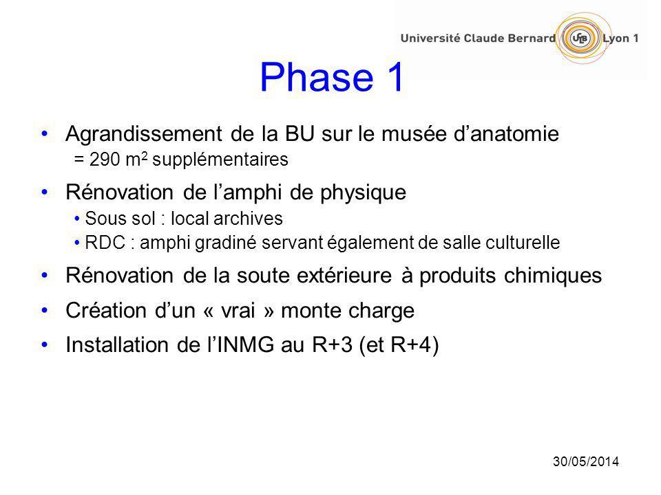 Phase 1 Agrandissement de la BU sur le musée d'anatomie