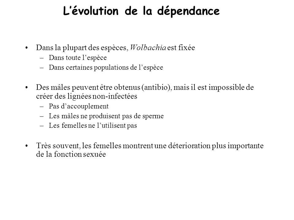 L'évolution de la dépendance
