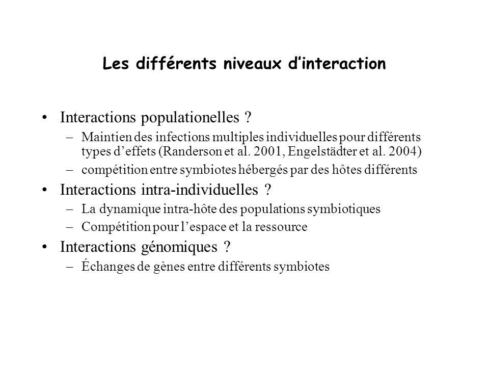 Les différents niveaux d'interaction