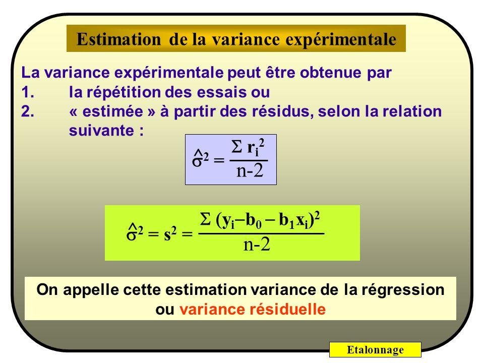 Estimation de la variance expérimentale