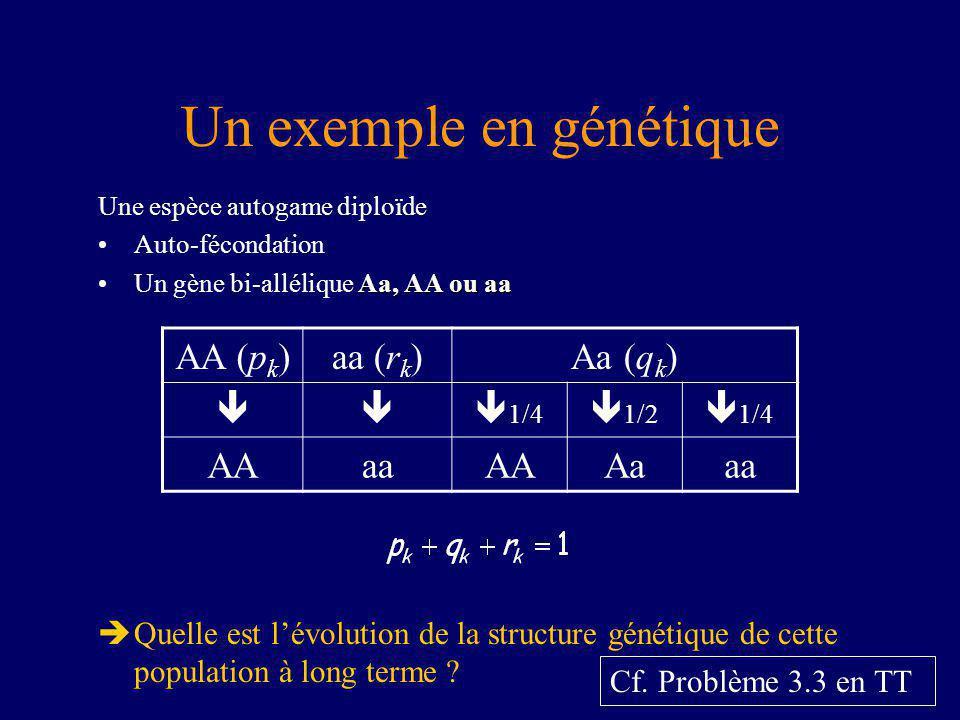 Un exemple en génétique
