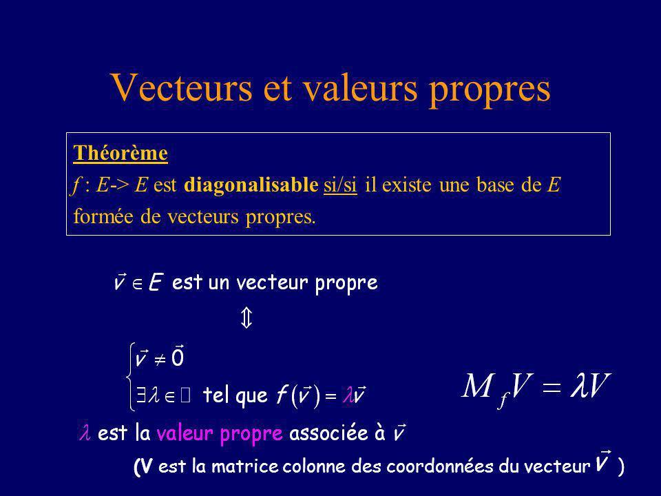 Vecteurs et valeurs propres