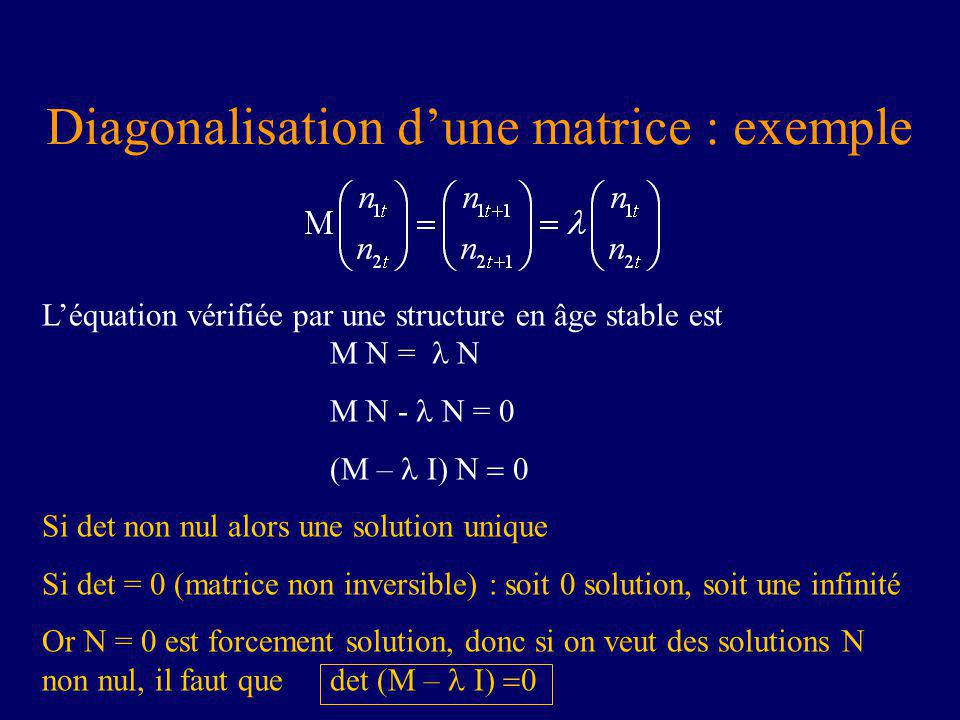 Diagonalisation d'une matrice : exemple