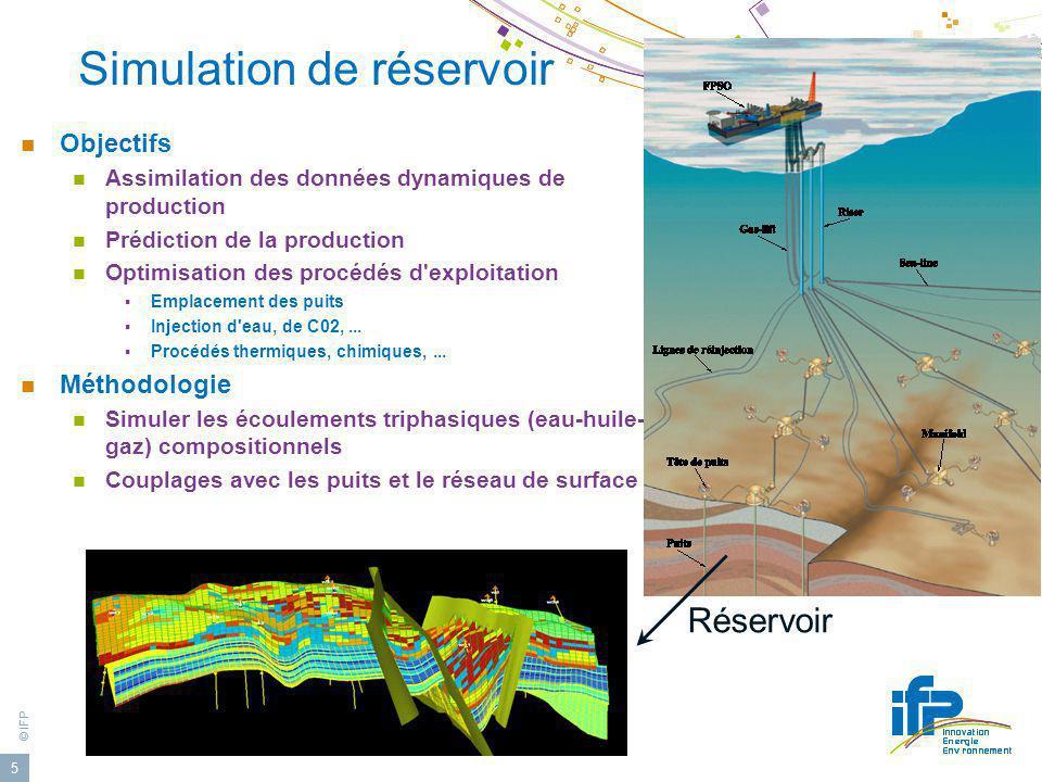 Simulation de réservoir