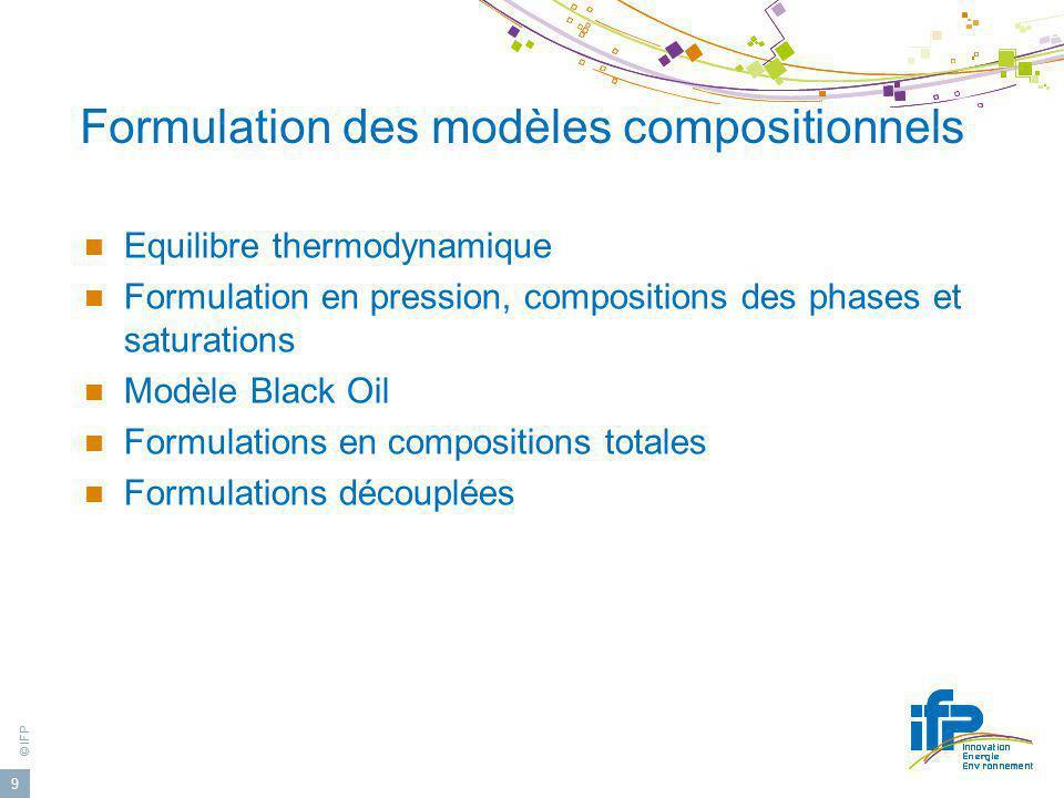 Formulation des modèles compositionnels