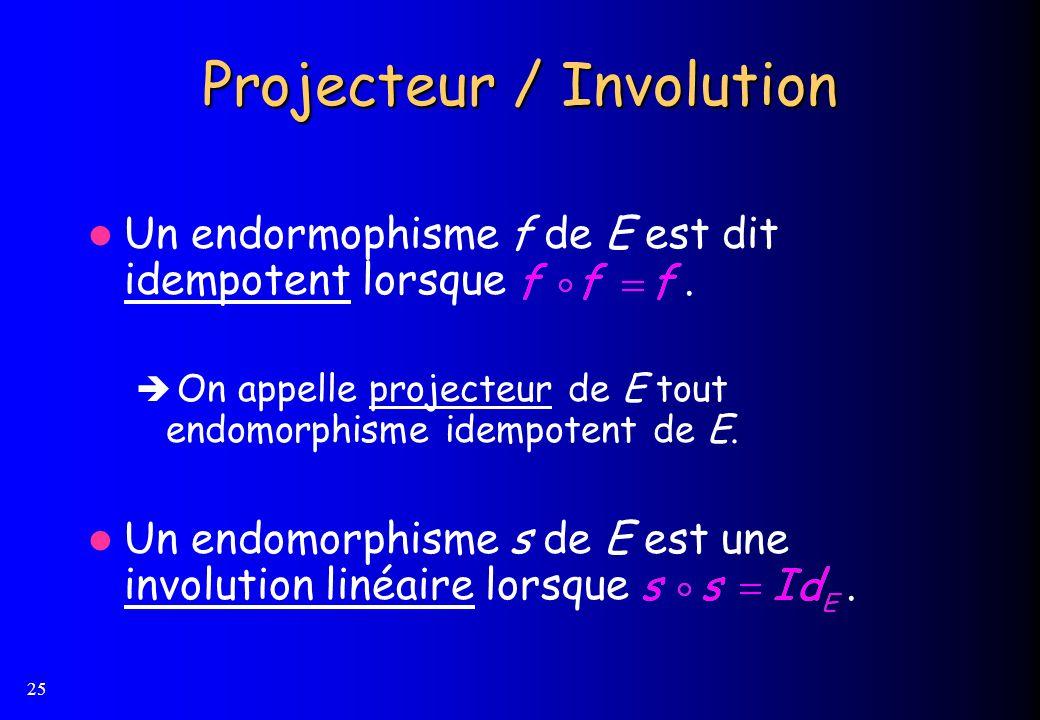 Projecteur / Involution