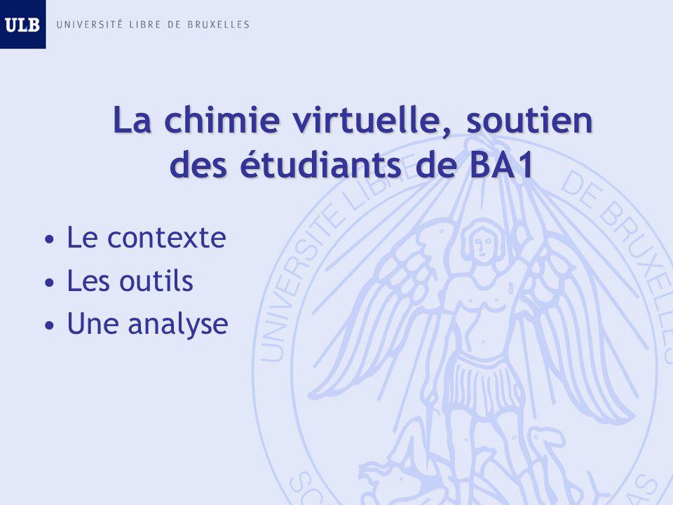 La chimie virtuelle, soutien des étudiants de BA1