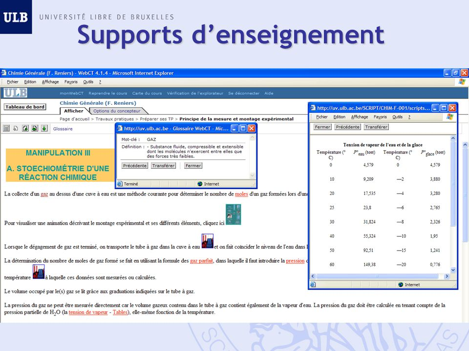 Supports d'enseignement