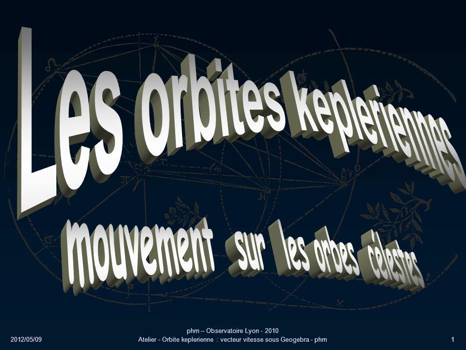Les orbites kepleriennes mouvement sur les orbes célestes