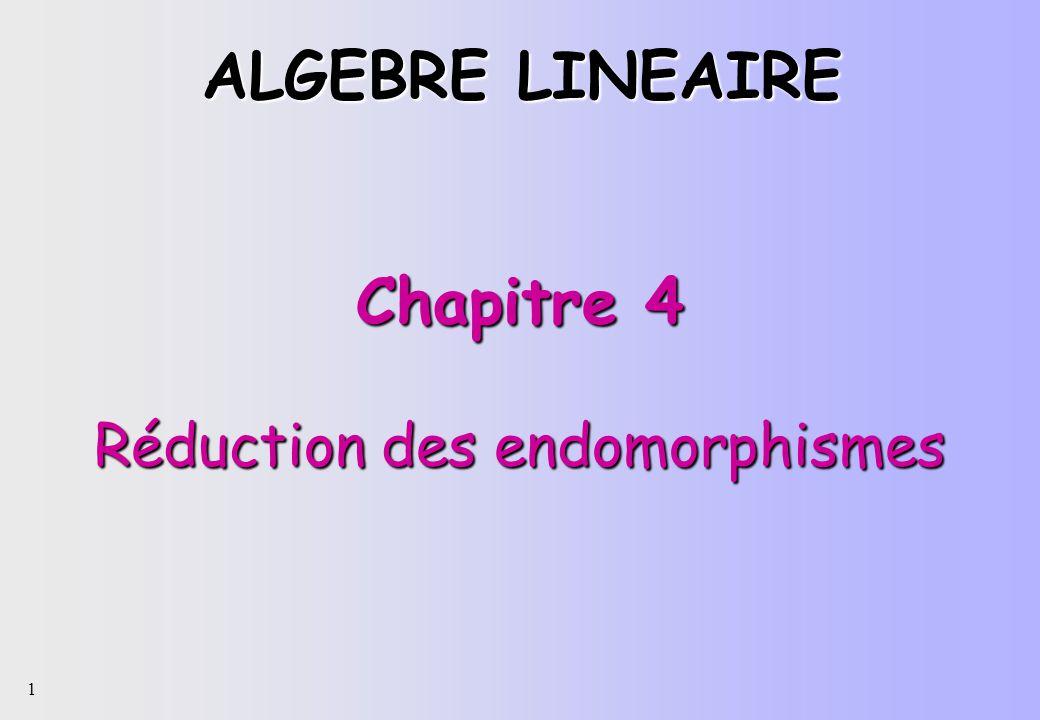 Chapitre 4 Réduction des endomorphismes
