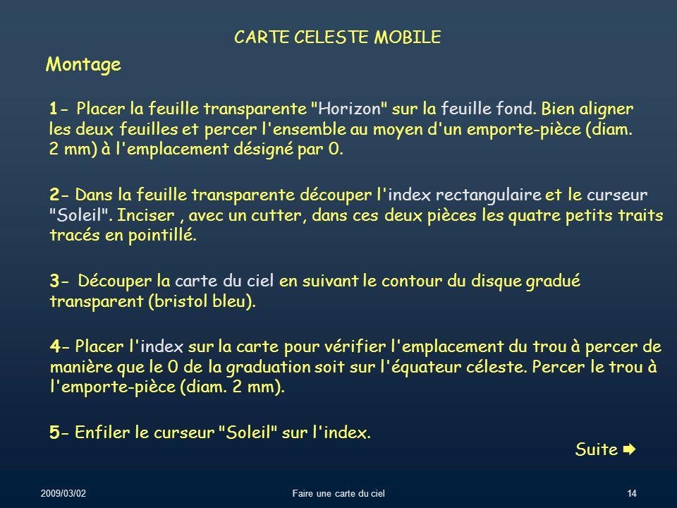 Montage CARTE CELESTE MOBILE