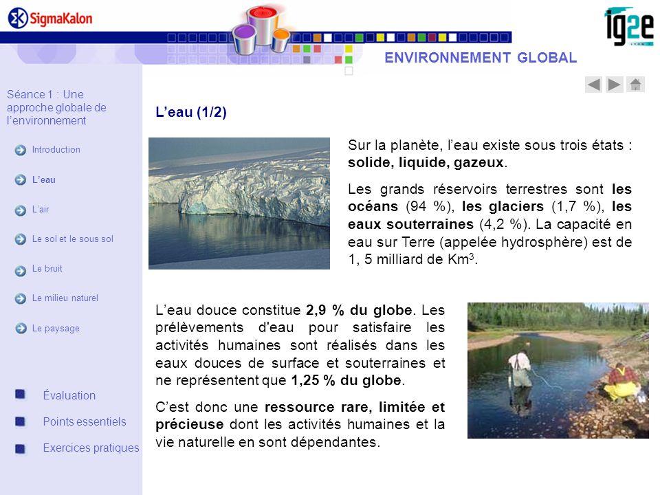ENVIRONNEMENT GLOBAL L'eau (1/2)