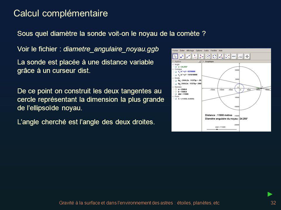 Calcul complémentaire