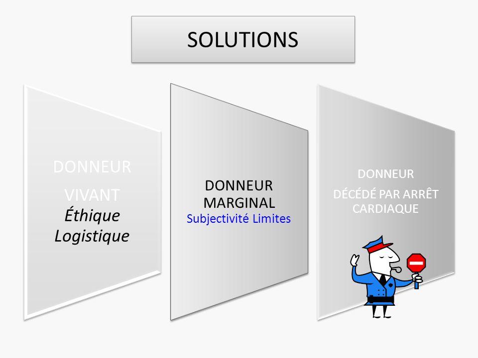 SOLUTIONS DONNEUR VIVANT Éthique Logistique
