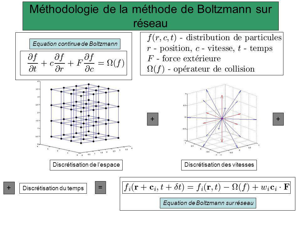 Méthodologie de la méthode de Boltzmann sur réseau