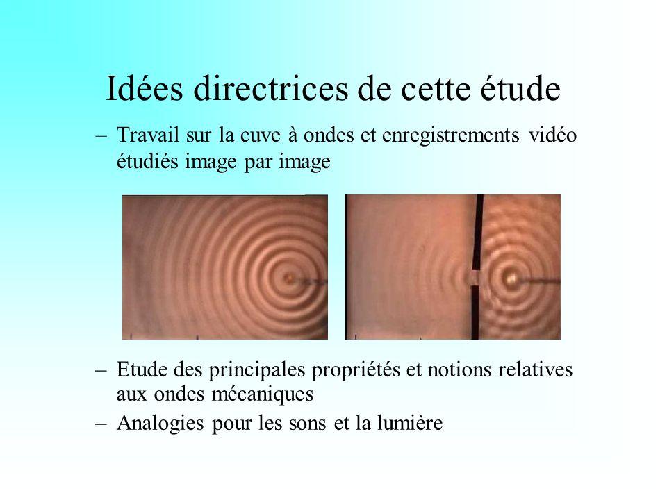 Idées directrices de cette étude