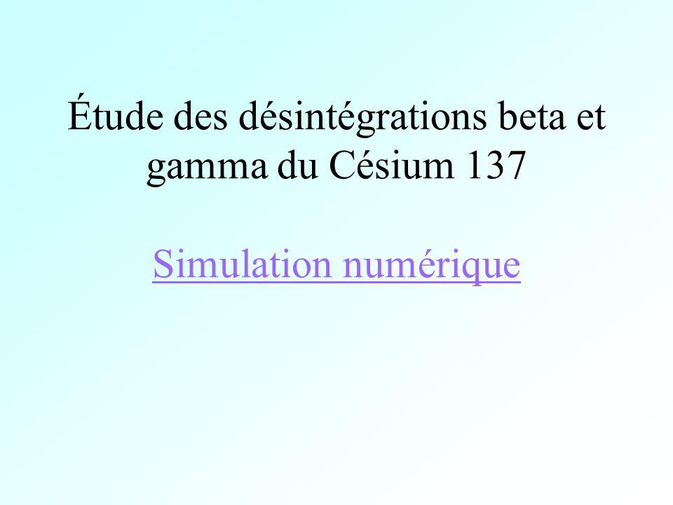 Étude des désintégrations beta et gamma du Césium 137 Simulation numérique