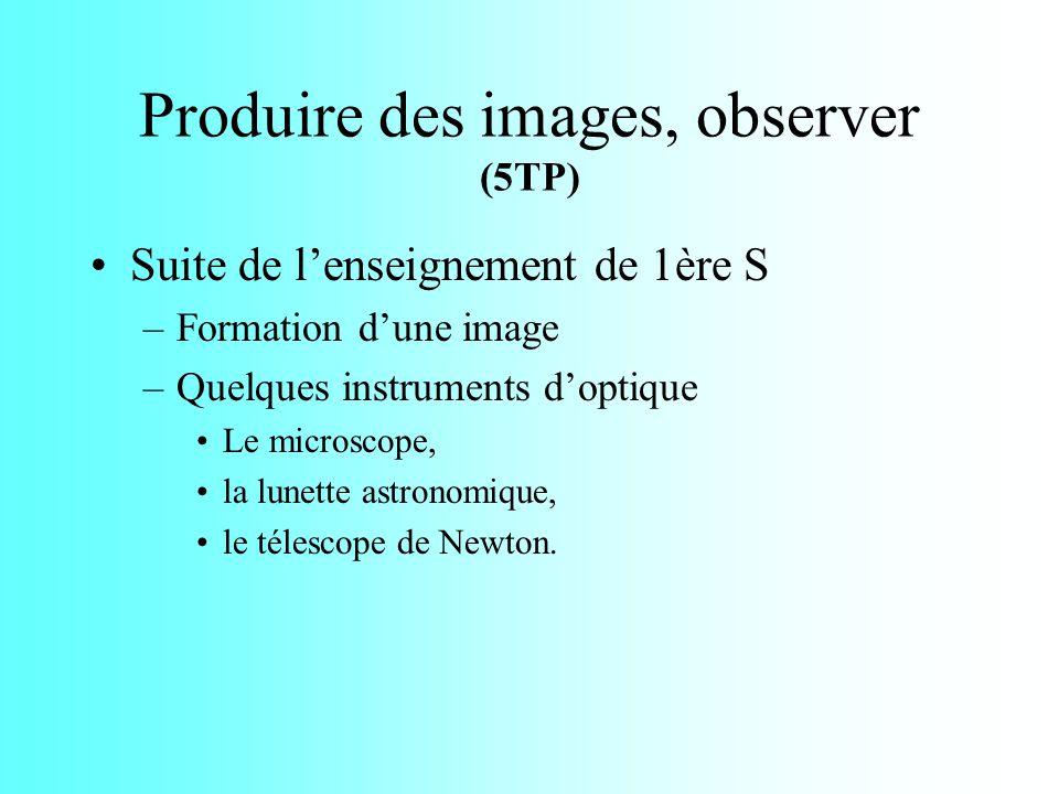 Produire des images, observer (5TP)