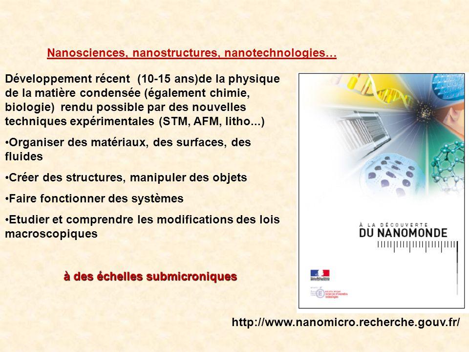 Nanosciences, nanostructures, nanotechnologies…
