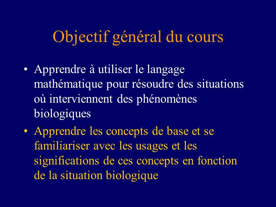 Objectif général du cours