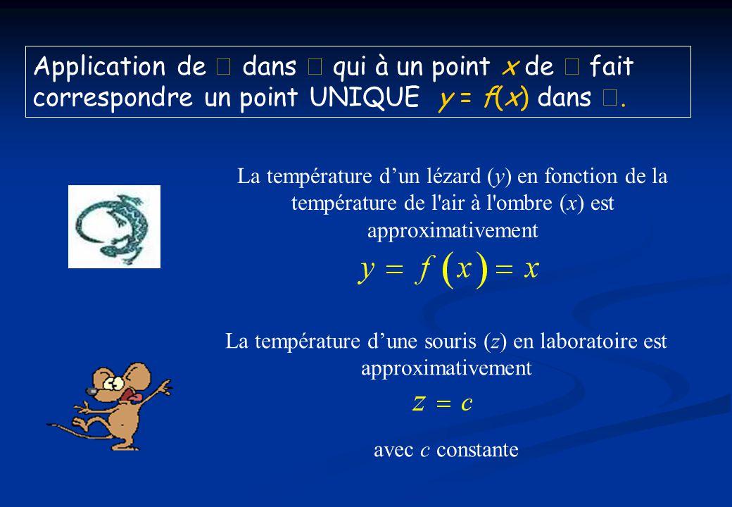 La température d'une souris (z) en laboratoire est approximativement