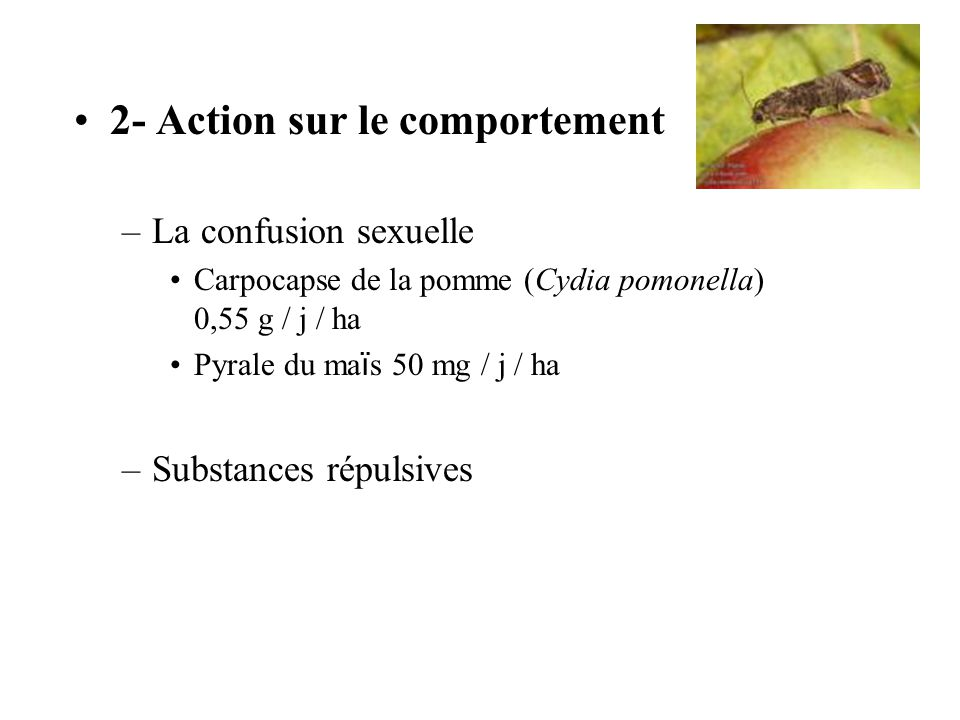 2- Action sur le comportement
