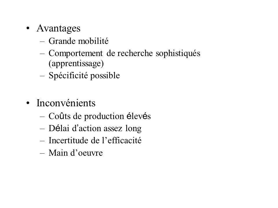 Avantages Inconvénients Grande mobilité