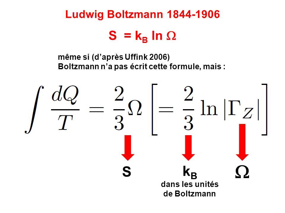 dans les unités de Boltzmann