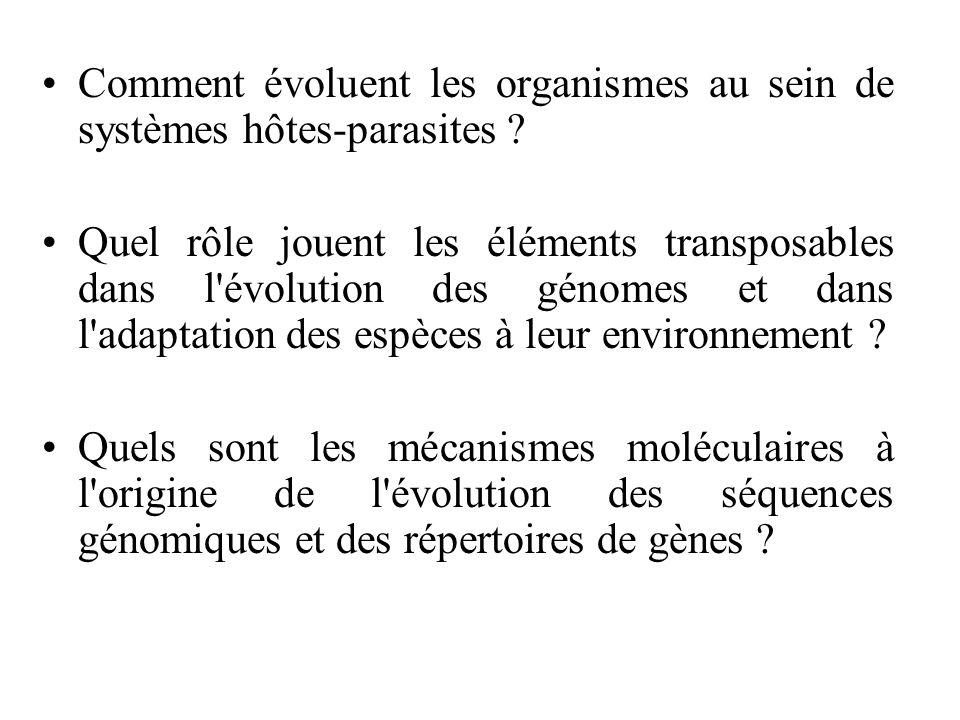 Comment évoluent les organismes au sein de systèmes hôtes-parasites